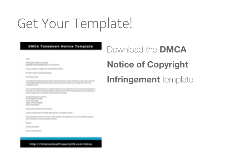 Dmca Takedown Notice Template Intellectual Property Hq