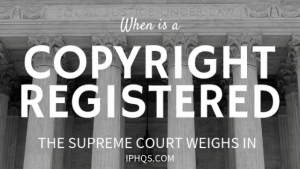Supreme Courts Opinion on when a copyright is registered